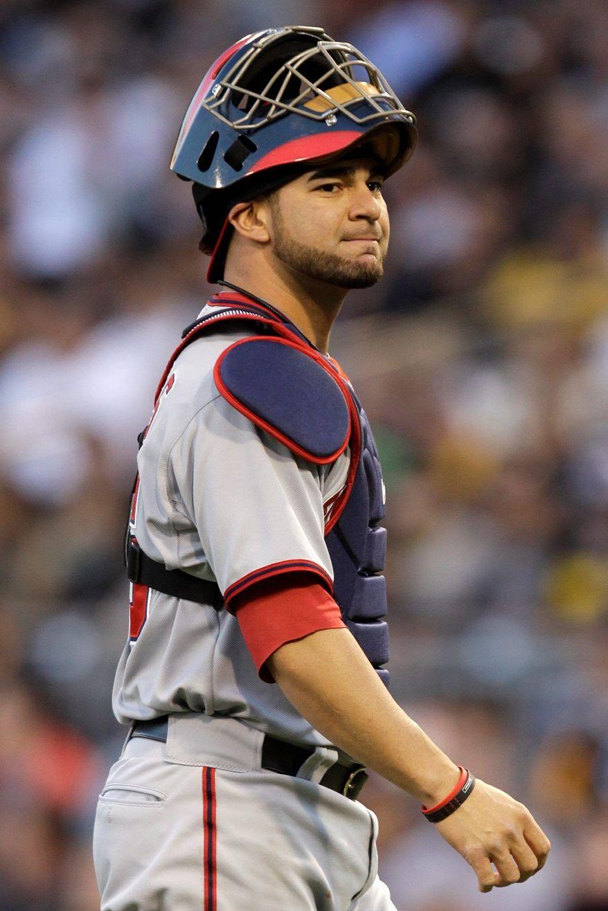 Washington's Jesus Flores is batting .292 since starting catcher Wilson Ramos was injured May 12. (Associated Press)