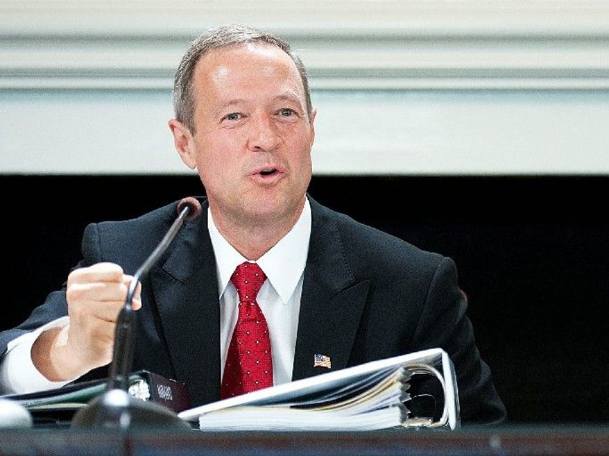 ** FILE ** Maryland Gov. Martin O'Malley (Barbara L. Salisbury/The Washington Times)