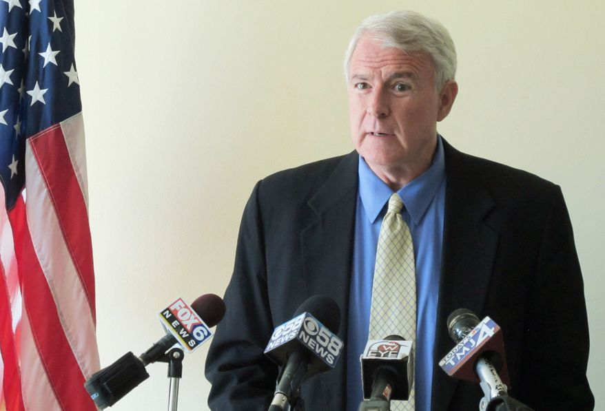 "Milwaukee Mayor Tom Barrett, Mr. Walker's Democratic challenger, did not win his party's primary until May 8 and has raised only $1 million. Mr. Barrett said Monday he remains ""very confident"" he will win the recall election. (Associated Press)"