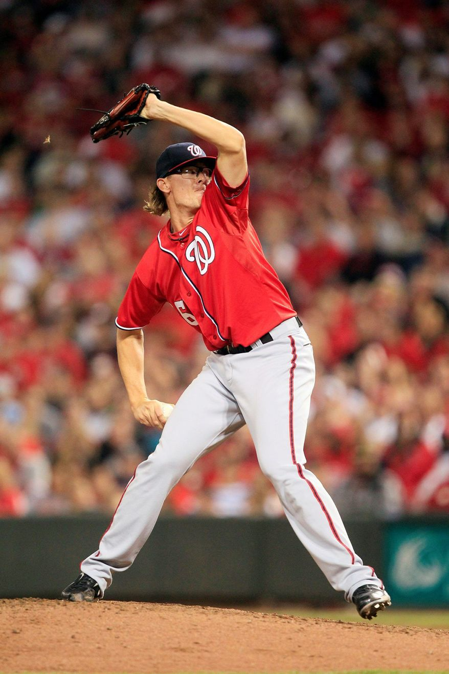 The Nationals' next closer likely will come from among Tyler Clippard, Craig Stammen and Sean Burnett. Clippard was an All-Star in the set-up role last season, Stammen is 3-0 with a 1.44 ERA and Burnett has 10 career saves. Henry Rodriguez lost the job after a series of wild outings. (Associated Press)