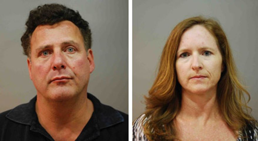 Gary Giordano, 51, and Carol Ann Bock, 45, were arrested and charged with indecent exposure (Photo courtesy of Annapolis Police Department)