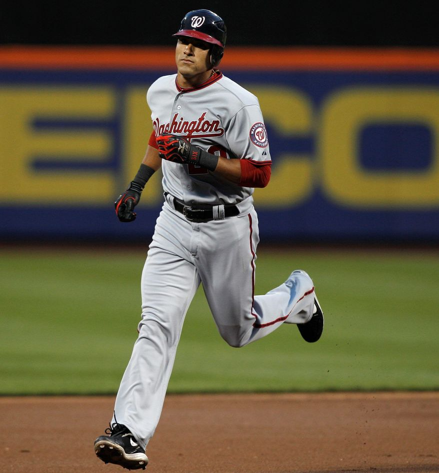 Nationals shortstop Ian Desmond circles the bases after one of team-leading eight home runs entering Wednesday night's game at Philadelphia. Adam LaRoche is second in homers with seven. (Associated Press)