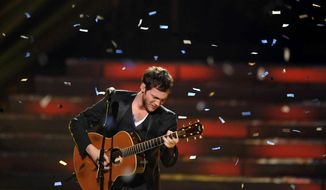 "Phillip Phillips is the fifth male ""American Idol"" winner in a row after beating Jessica Sanchez on Wednesday. (John Shearer for Invision via Associated Press)"