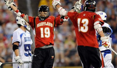 Joe Cummings (19) has scored 30 goals this season entering Maryland's NCAA semifinal against Duke on Saturday. (Maryland Athletics)
