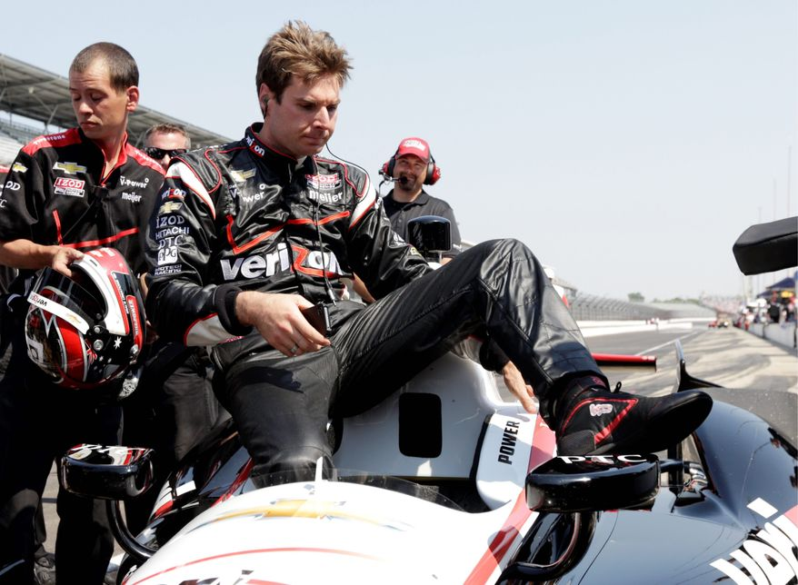 Will Power has 15 victories and 20 poles in 44 career starts for Penske Racing. He will win his first Indianapolis 500 if he takes the checkered flag at the Brickyard on Sunday. (Associated Press)
