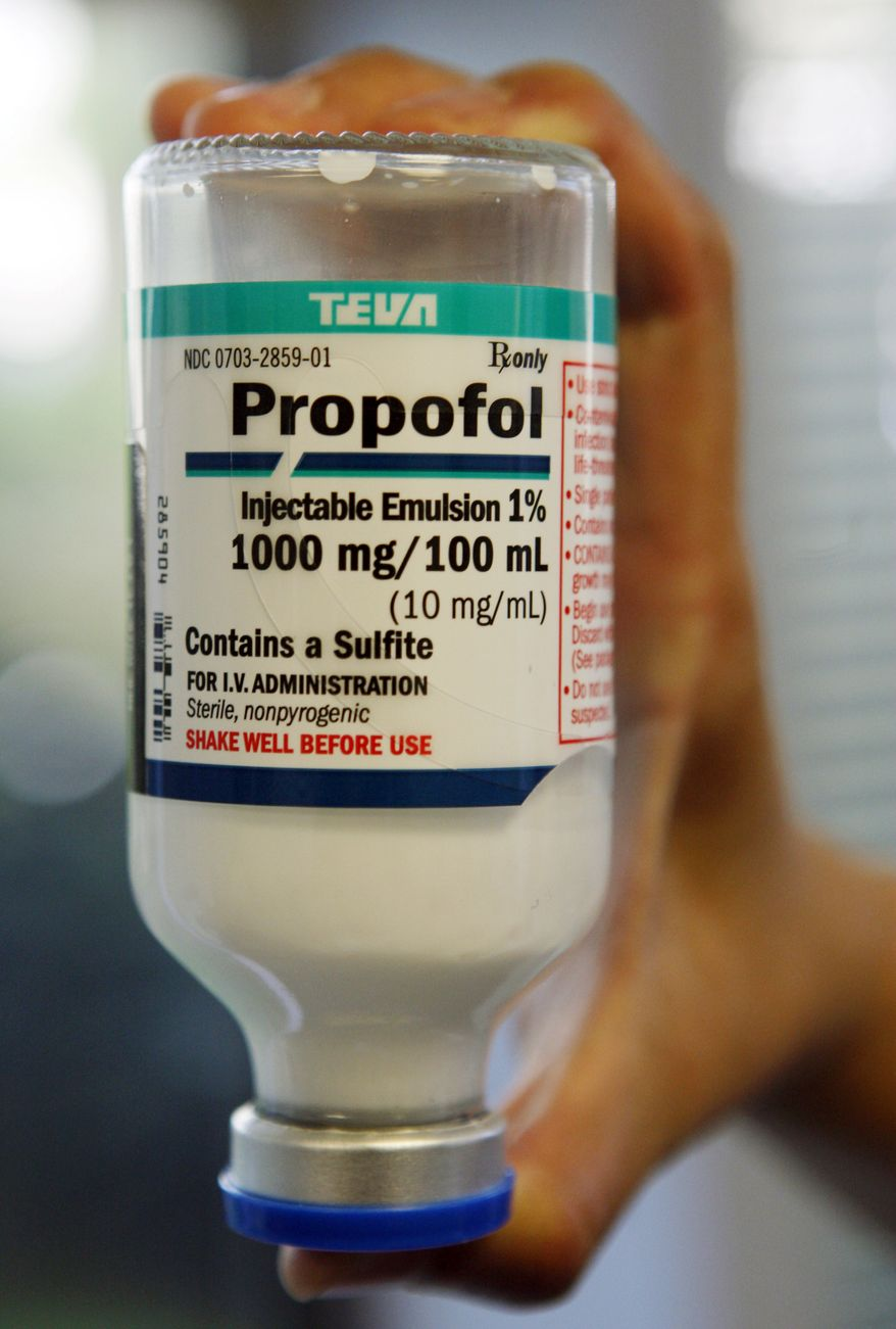 Missouri has switched to propofol, the anesthetic implicated in the overdose death of pop star Michael Jackson, for its executions. (AP Photo/Richard Vogel)