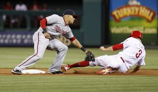 The Washington Nationals are 26-18, but are 0-7 when they have a chance at a series sweep. (AP Photo/H. Rumph Jr)