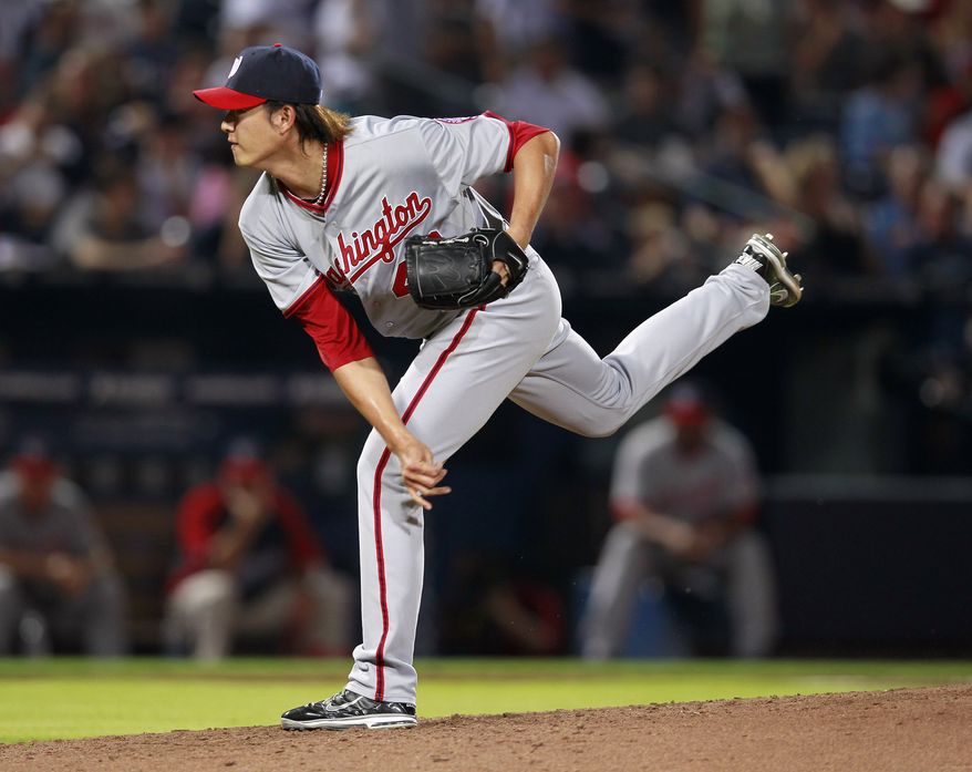 Chien-Ming Wang will start Wednesday for the Nationals, after taking over Ross Detwiler's spot in the rotation. (AP Photo/John Bazemore)
