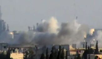 ** FILE ** This image made from amateur video released by Shaam News Network and accessed Friday, May 25, 2012 purports to show shelling in Jobar, Syria. The Associated Press cannot independently verify the content, date, location or authenticity of this material. (AP Photo/Shaam News Network via AP video)