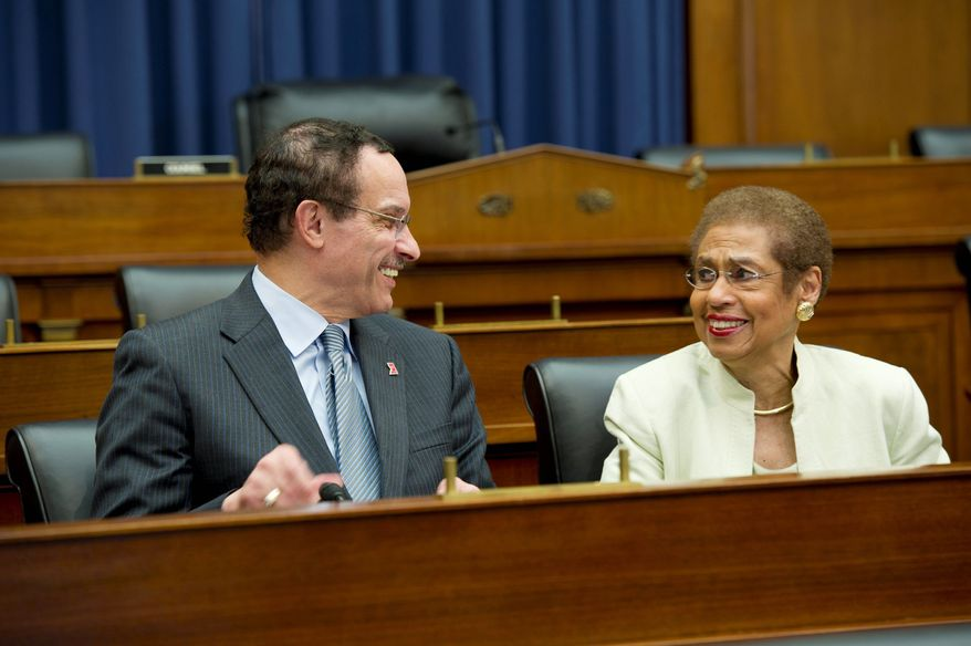 Mayor Vincent C. Gray and D.C. Delegate Eleanor Holmes Norton will be on Capitol Hill on Tuesday to outline a network of 100 organizations pledged to protect the District's home rule during federal budget talks. (Barbara L. Salisbury/The Washington Times)