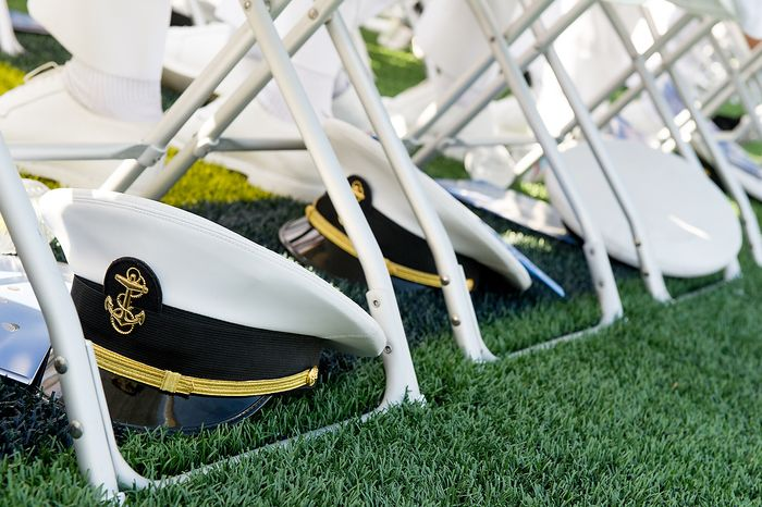 **FILE** The graduation ceremony for the U.S. Naval Academy's class of 2012 at the Navy-Marine Corps Stadium is held in Annapolis on May 29, 2012. (Andrew Harnik/The Washington Times)