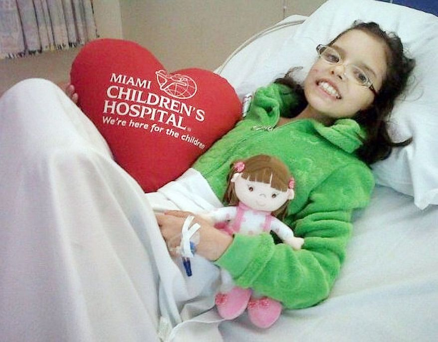 Vicky Cabrera after her second heart surgery on March 9, 2011. (Provided by Marfa Mata)