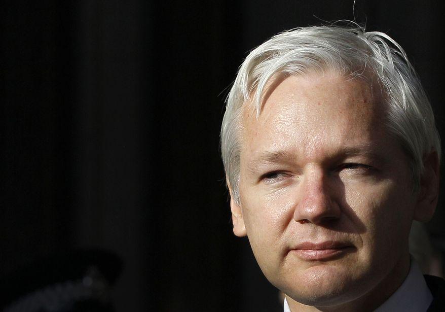 WikiLeaks founder Julian Assange (AP Photo/Kirsty Wigglesworth)