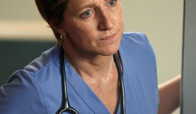 "In this image released by Showtime, Edie Falco portrays Jackie Peyton in a scene from ""Nurse Jackie."" (AP Photo/Showtime, Ken Regan)"