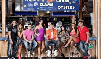 """The cast of """"Jersey Shore"""" reconvened in late May to begin taping the MTV reality show's sixth season. (MTV via Associated Press)"""