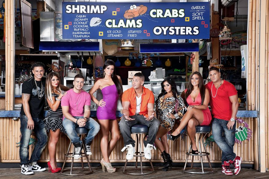 "The cast of ""Jersey Shore"" reconvened in late May to begin taping the MTV reality show's sixth season. (MTV via Associated Press)"