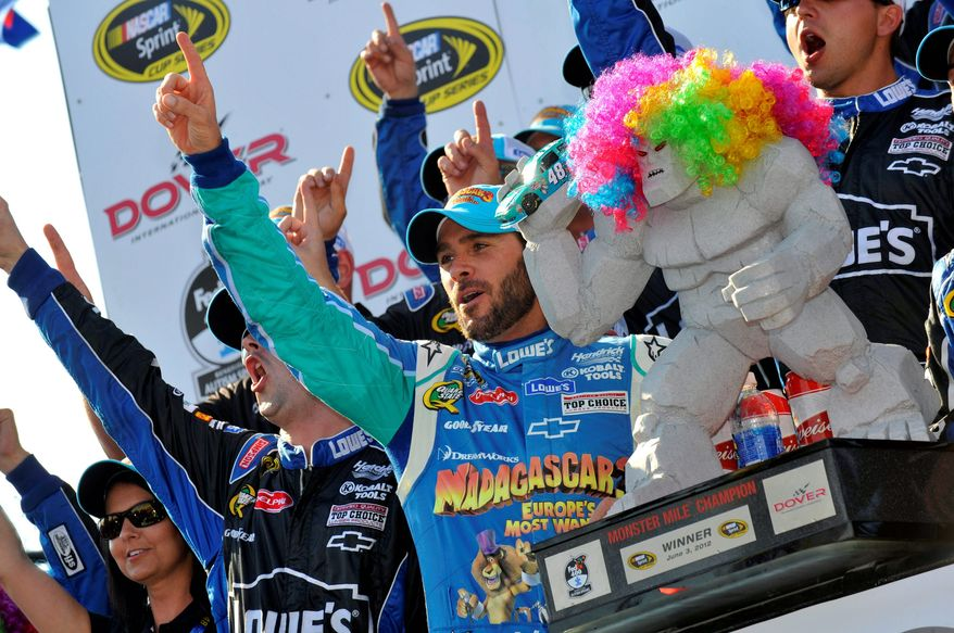 Jimmie Johnson needed just 21 career starts to win seven times at Dover, compared with 46 starts for Richard Petty and 35 for Bobby Allison. Johnson, a five-time Cup champion, has 57 victories overall. (Associated Press)