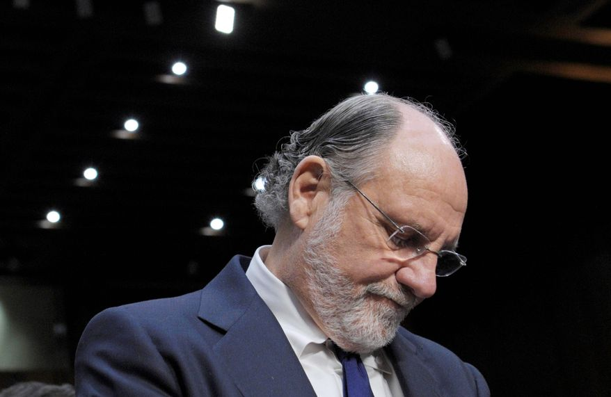 A trustee's report says Jon Corzine led MF Global to trade in unsafe securities and take on far greater risk than comparable companies. (Associated Press)