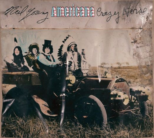 "Album cover for Neil Young and Crazy Horse's ""Americana"""