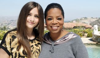 "Oprah Winfrey will broadcast an interview with Paris Jackson, daughter of the late pop icon Michael Jackson, on Sunday. Ms. Winfrey interviewed Paris for ""Oprah's Next Chapter,"" which can be seen on OWN. (Associated Press)"