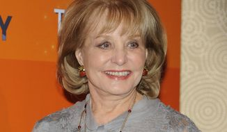 "**FILE** Barbara Walters attends the ""Today"" show 60th anniversary celebration at the Edison Ballroom in New York on Jan. 12, 2012. (Associated Press)"