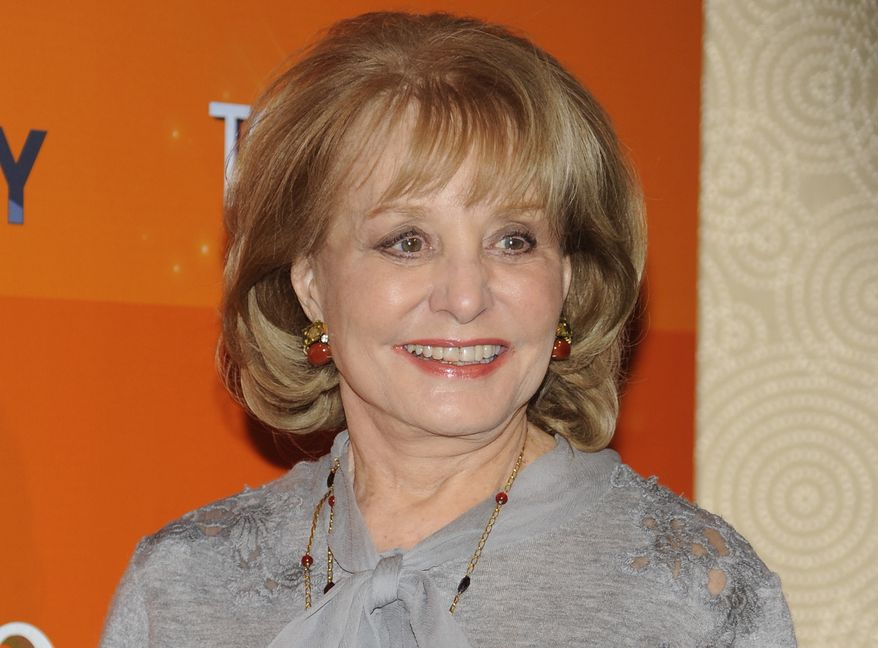 """**FILE** Barbara Walters attends the """"Today"""" show 60th anniversary celebration at the Edison Ballroom in New York on Jan. 12, 2012. (Associated Press)"""