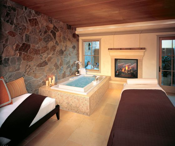 The Men's Lounge at Spa Villagio in Yountville, Calif., is designed for ultimate privacy and comfort. A variety of activities and hotel packages are being offered in California wine country that are designed specifically to appeal to men. (The Vintage Estate via Associated Press)
