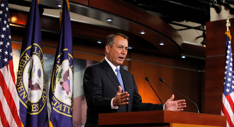 House Speaker John A. Boehner says during a news conference he is confident Congress will pass a transportation bill sooner or later this year. (Associated Press)