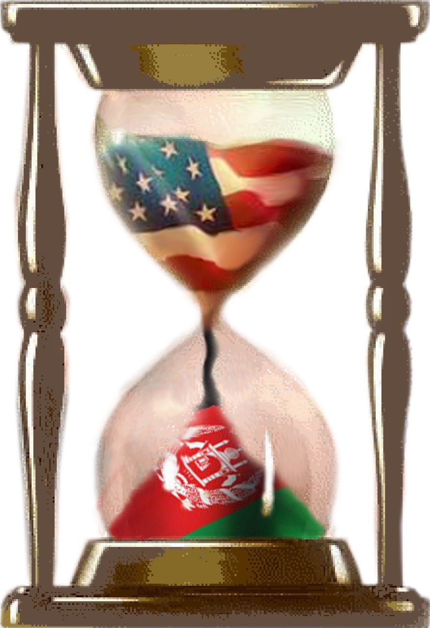 Illustration U.S. hourglass by John Camejo for The Washington Times