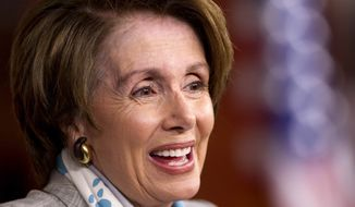** FILE ** House Minority Leader Nancy Pelosi of Calif., holds her weekly news conference on Capitol Hill in Washington, Thursday, May 10, 2012. (AP Photo/J. Scott Applewhite)