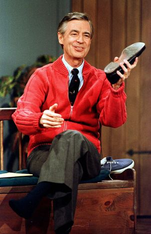"""A remix featuring Auto-Tuned clips from """"Mister Rogers' Neighborhood"""" commissioned by PBS Digital Studios has become a viral sensation. (Associated Press)"""