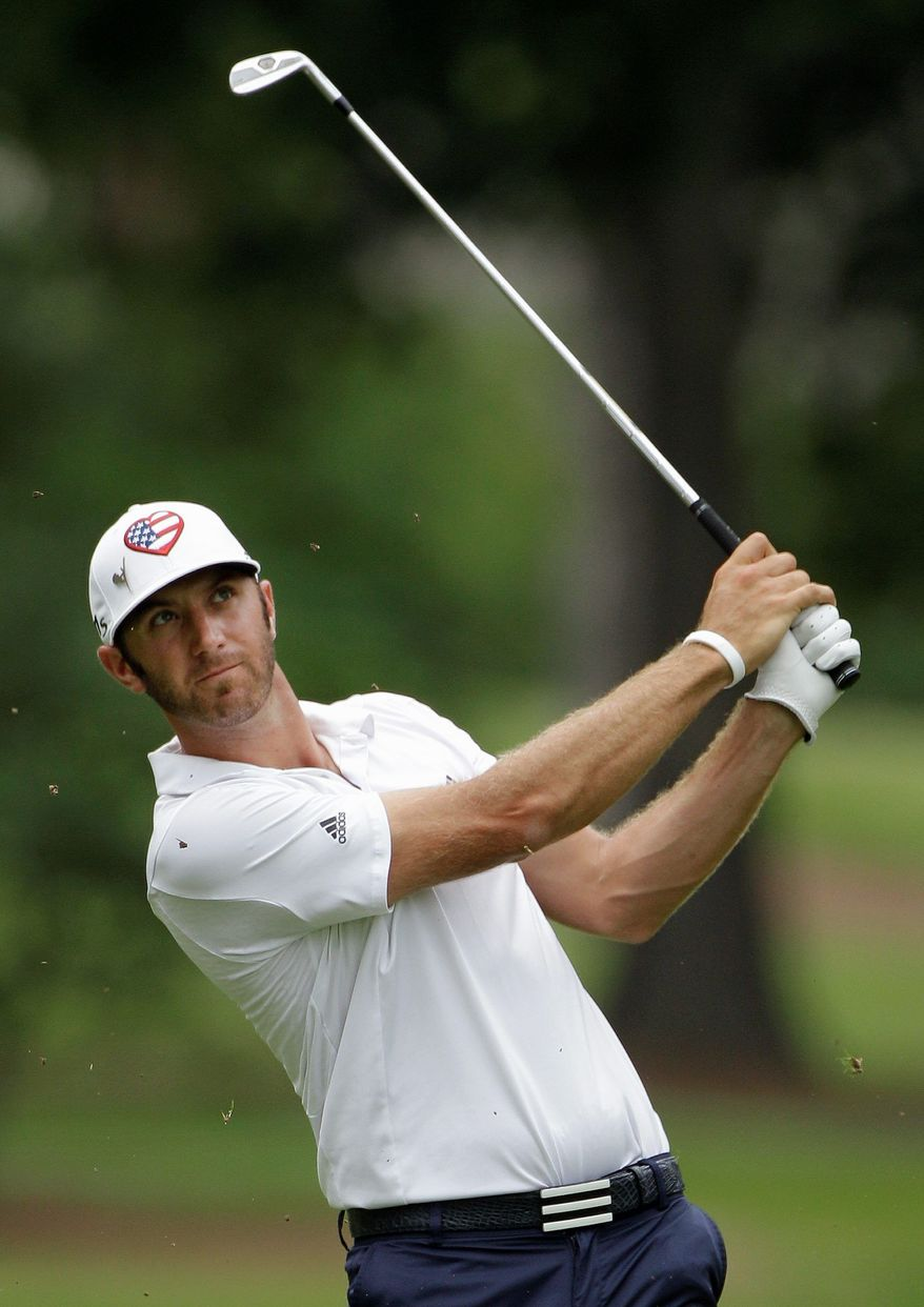 Dustin Johnson shot a final-round 66 to hold off John Merrick by a stroke in the St. Jude Classic in Memphis, Tenn. Johnson finished 72 holes at 9-under 271. (Associated Press)
