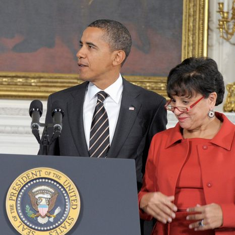 ** FILE ** President Obama stands at the White House in 2010 with Penny Pritzker, whom he named to the President's Economic Recovery Advisory Board in 2009. (Associated Press)