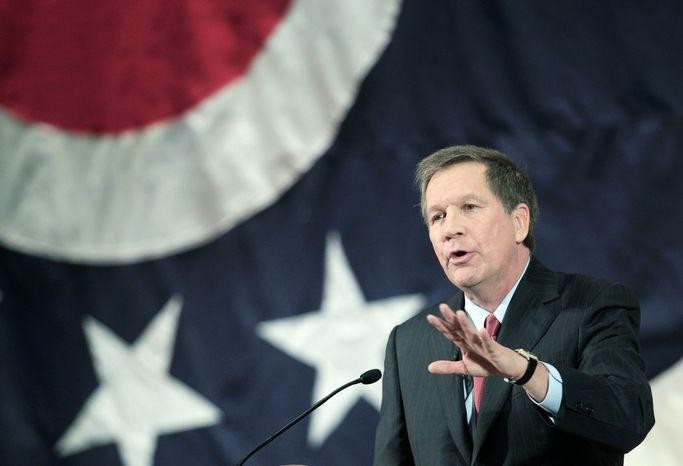 ** FILE ** Ohio Gov. John Kasich (Associated Press)