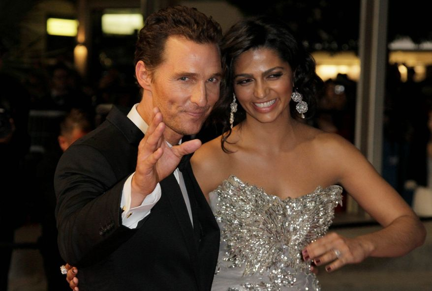 Actor Matthew McConaughey and Camilla Alves are husband and wife after getting married over the weekend. (Associated Press)