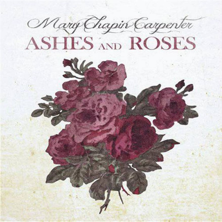 "Album cover for Mary Chapin Carpenter ""Ashes and Roses""."