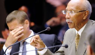 Detroit Mayor Dave Bing (right) said he feels the state will let the city run out of cash this week. Some residents are wondering if the Motor City is poised on the edge of an explosive summer of unrest. (Associated Press)