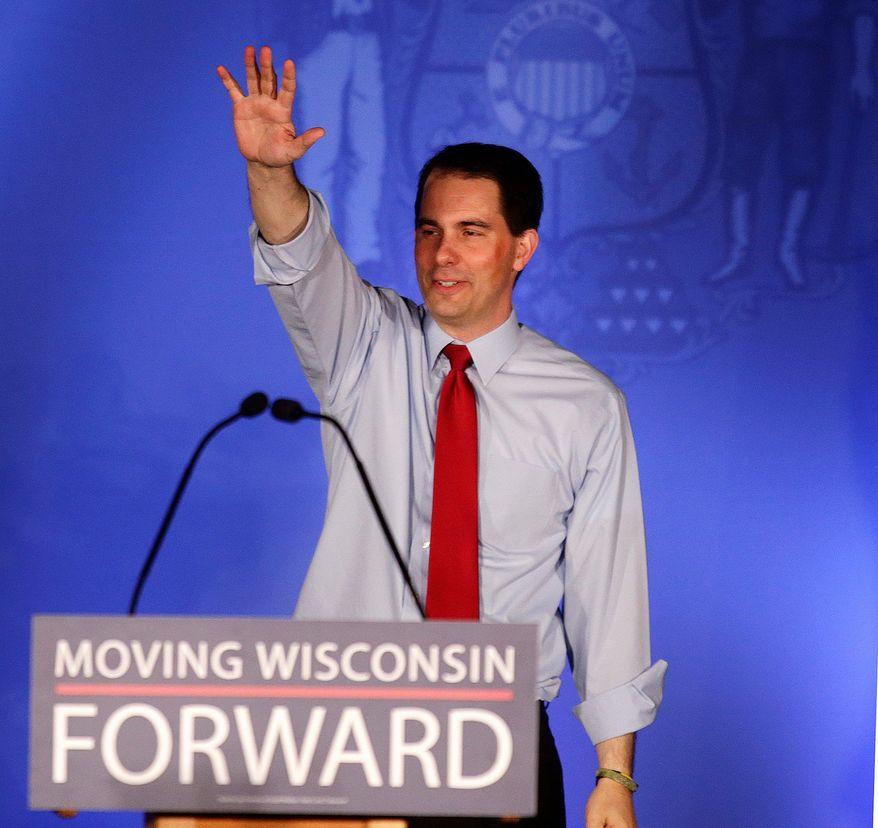 **FILE ** Wisconsin Gov. Scott Walker (Associated Press)