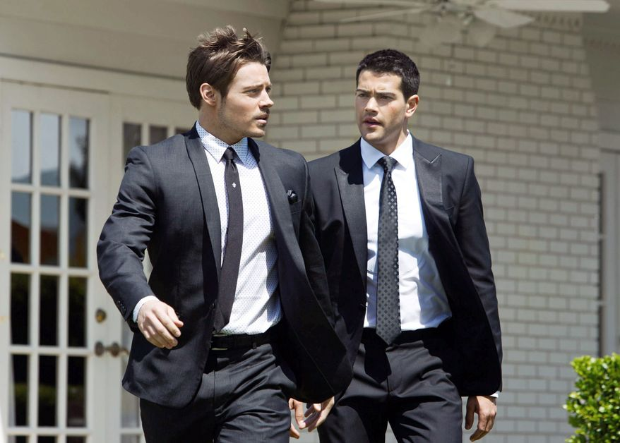 "TNT Josh Henderson (left) and Jesse Metcalfe portray the scions of the Ewing patriarchs in TNT's revival of ""Dallas."""