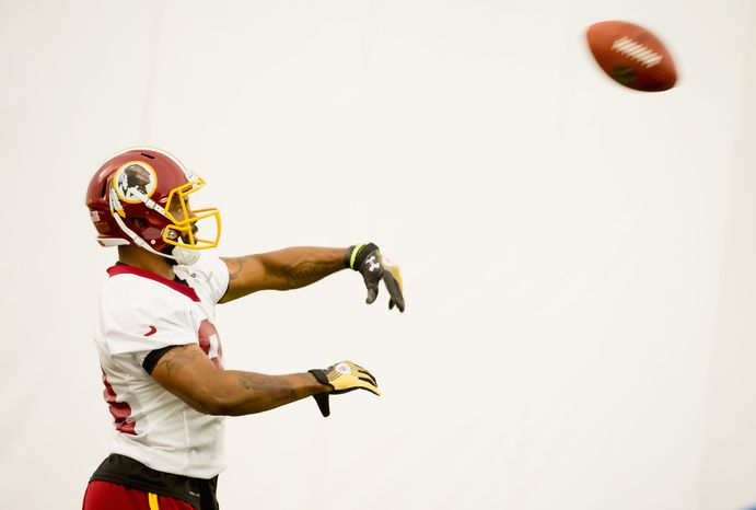 Redskins tight end Niles Paul is just in his second season, but coach Mike Shanahan already says he is reminiscent of Hall of Famer Shannon Sharpe. Shanahan coached Sharpe in Denver. (Andrew Harnik/The Washington Times)