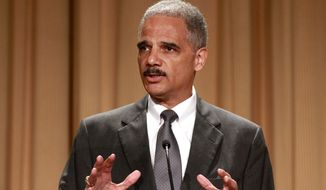 **FILE** Attorney General Eric Holder speaks June 11, 2012, at the League of Women Voters National Convention in Washington. (Associated Press)