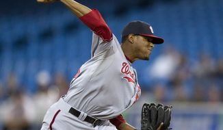 ** FILE ** Washington Nationals starting pitcher Edwin Jackson. (AP Photo/The Canadian Press, Frank Gunn)