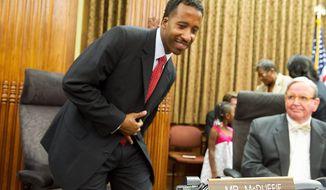 D.C. Council member Kenyan McDuffie (Barbara L. Salisbury/The Washington Times)