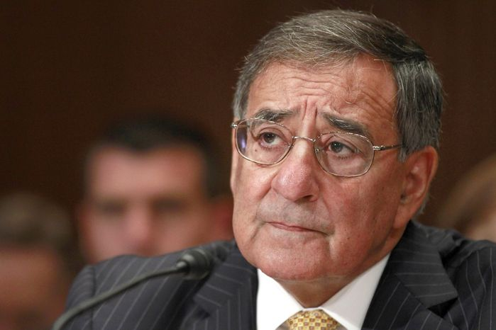 Defense Secretary Leon E. Panetta testifies June 13, 2012, on Capitol Hill before the Senate Defense subcommittee during a hearing on the the Defense Department's fiscal 2013 budget. (Associated Press)