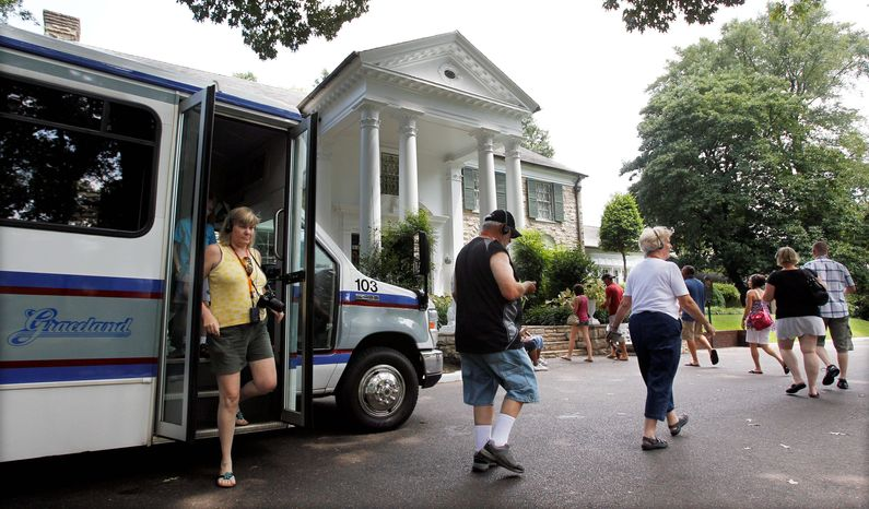 Elvis Presley's Graceland estate, which opened to the public 30 years ago, expects to welcome its 18 millionth visitor soon. (Associated Press)