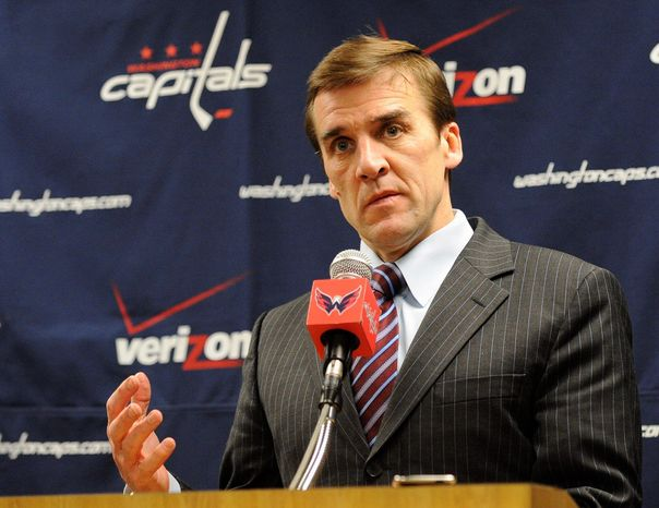 Washington Capitals vice president and general manager George McPhee won't rush to select his team's next coach. (AP Photo/Nick Wass)