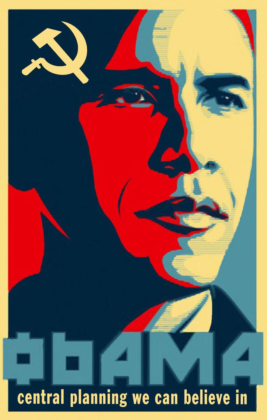 Illustration Obamaphobia by John Camejo for The Washington Times
