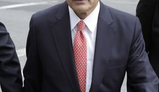 **FILE** Rajat Gupta arrives June 12, 2012, at court in New York. Gupta was charged with passing secrets he learned from Goldman's board in fall 2008 to a billionaire hedge fund founder who used the information to make millions of dollars. (Associated Press)