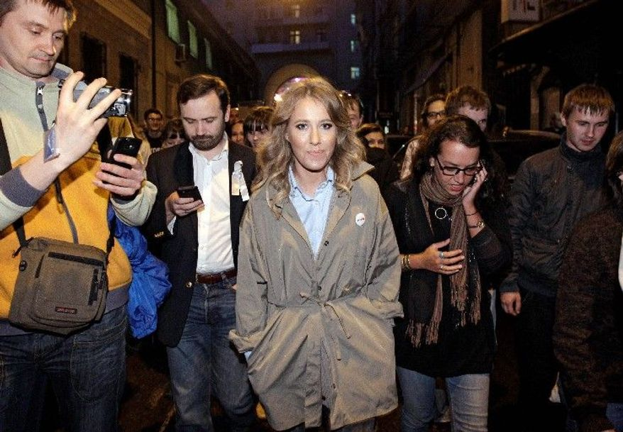 Russian socialite Ksenia Sobchak became one of the most recognized figures in Russian entertainment before turning her attention to political activism. (Associated Press)