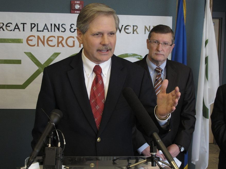 "Sen. John Hoeven, Republican of North Dakota, complained about ""another obstructive tactic"" over the Keystone XL pipeline. (Associated Press)"
